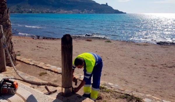 30.000 euros para la reparación del frente marítimo de La Azohía